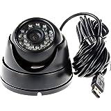ELP USB Webcam 720P Dôme Caméra Vision nocturne pour la sécurité et surveillance