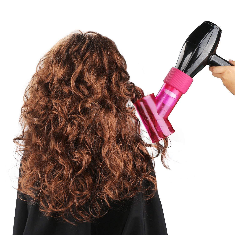 Difusor de pelo para secador de pelo rizado, ondulado y permanente, accesorio mágico: Amazon.es: Belleza