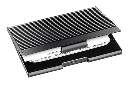 Sigel Vz134 Visitenkarten Etui Schwarz Mit Gerillter Oberfläche Weitere Modelle