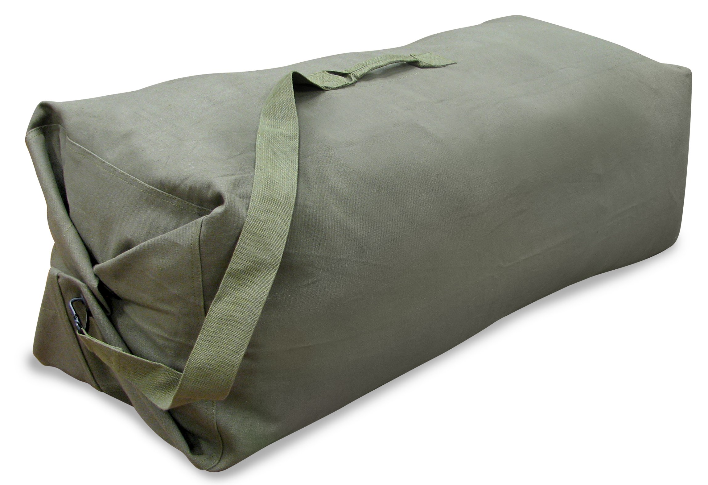 Stansport 1200 Deluxe Duffel Bag with Shoulder Strap, 42'' X 12'' X 12'', Olive Green