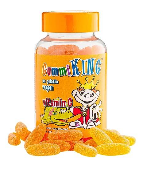 Goma Rey, Vitamina C para los niños, Natural Naranja Sabor, 60 Gomitas