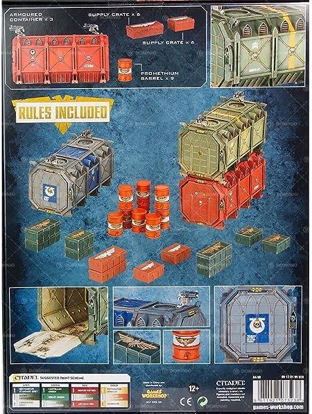 Warhammer 40k Games Workshop Munitorum Armoured Containers by Citadel: Amazon.es: Juguetes y juegos