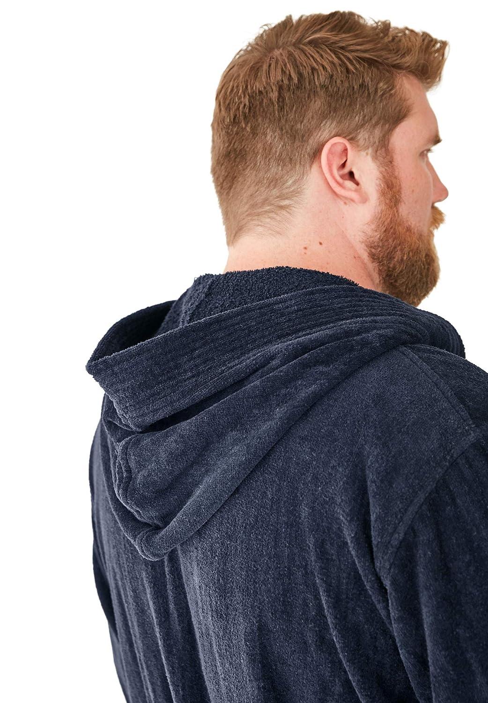KingSize Mens Big /& Tall Terry Velour Hooded Maxi Robe