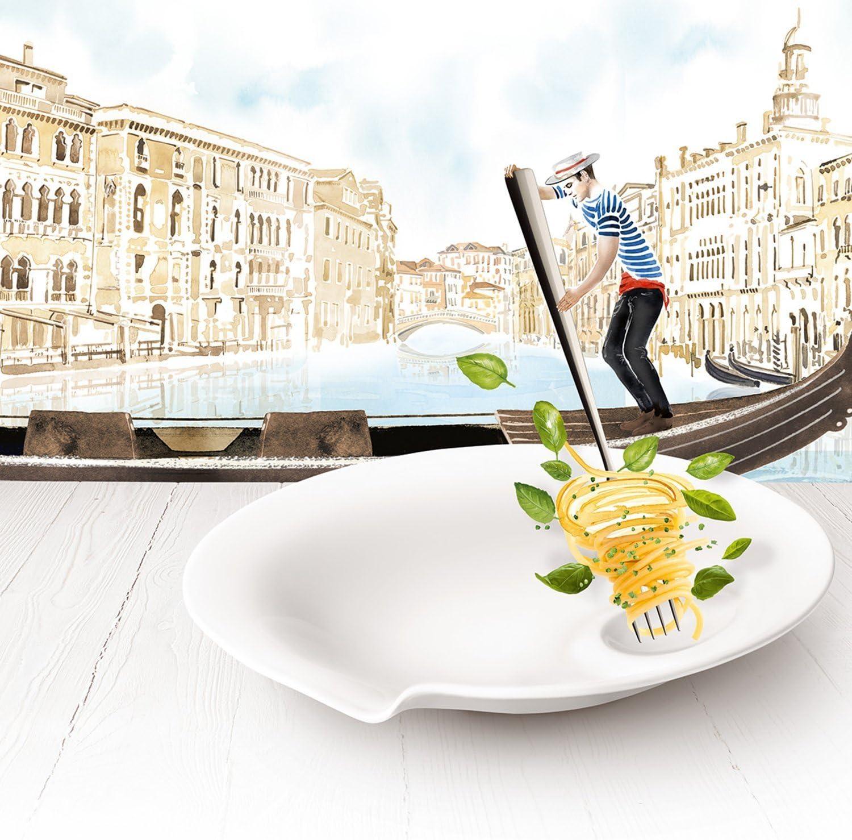 Pack de 2 Villeroy /& Boch Pasta Passion Assiettes /à lasagne Porcelaine Premium 32,5 x 22,4 x3,8 cm Blanc