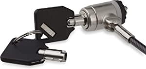 StarTech.com Keyed Cable Lock - Push-to-Lock Button - 2 m (6.5') Steel Cable - Locking Cable for Laptop - Computer Security Cable Lock (LTLOCKKEY)