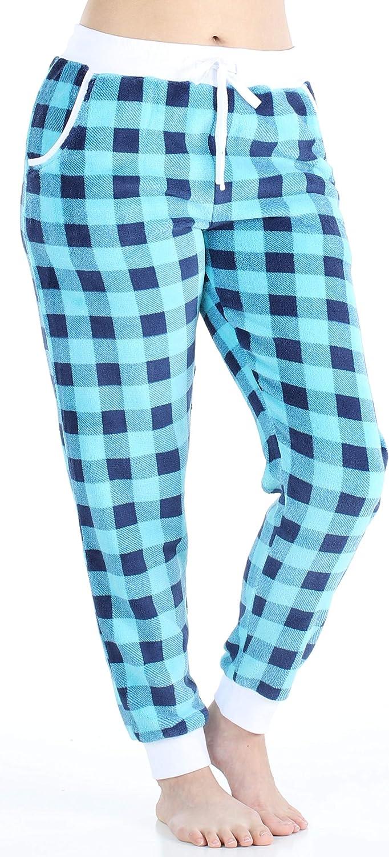 Frankie /& Johnny Women/'s Plush Fleece Lounge Pajama Pants with Pockets