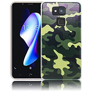 Bq Aquaris V Plus Camouflage Camuflaje Funda de Silicona Protectora Funda de Silicona Funda de Silicona Funda de Silicona Funda de Silicona Estuche ...