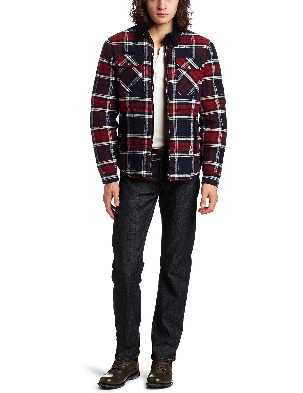 J.C. Rags Men's Reversable Twill Check Jacket