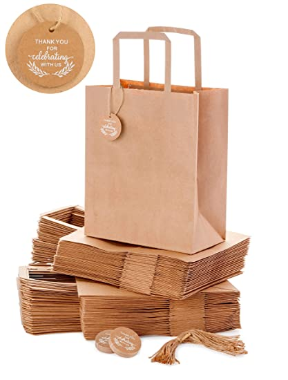 Kraft Paper Bags Bulk For Wedding Welcome Gifts Goody Bridal Shower Reception