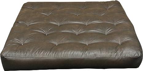 Black Duct Gold Bond FeatherTouch I 21 W x 7 H x 39 L Loveseat Ottoman Futon Mattress Twin