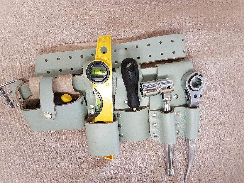 Bbi Marron Heavy Duty Cuir Double grenouilles pour cl/é plate Scaffolder /Échafaudage Outil Ceinture de travail de qualit/é professionnelle
