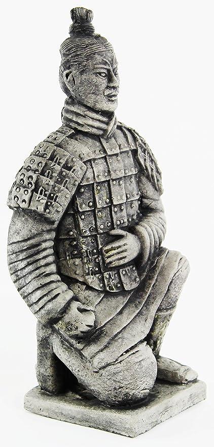 Beau Chinese Warrior Concrete Ornamental Statue