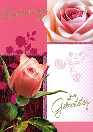 Einladungskarten Geburtstag Frau Mann Mädchen Mit Innentext Motiv