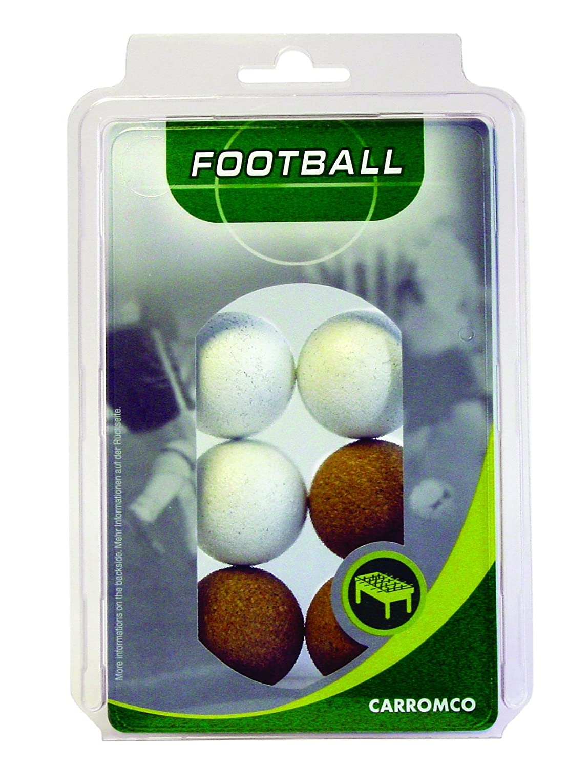 Carromco Table Football Balls 3x Natural Cork / 3x White Cork 62306