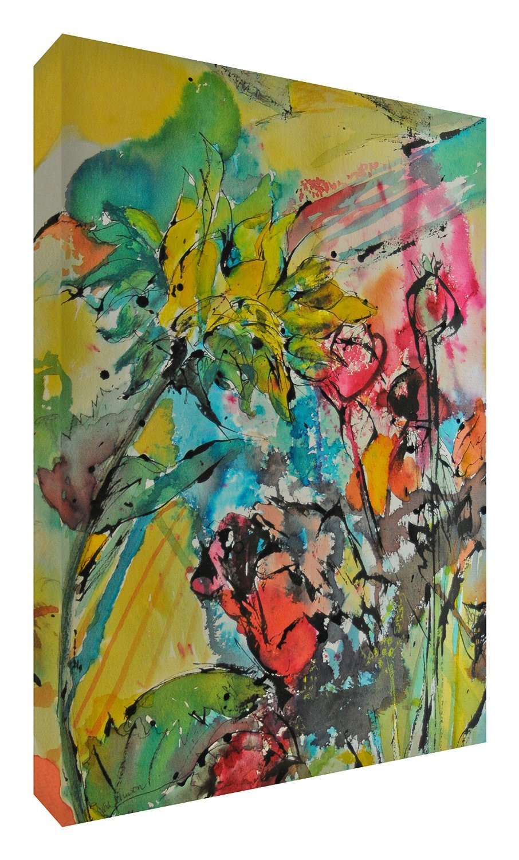 Feel Good Art Leinwand leuchtenden Farben gehören des Künstlers Val Johnson Gallois Beauty 115x 78x 4cm Größe XXL