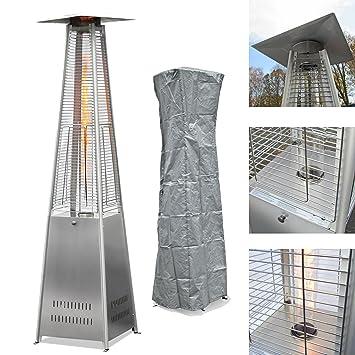 JOM Aluminio Acero Inoxidable Combinado Pisos Estufa Calentador Pyramide Seta Estufa Incluye Impermeable Protectora: Amazon.es: Hogar