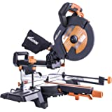 Evolution Power Tools R255SMS+ Multi-Material Sliding Mitre Saw with Plus Pack, 255 mm (230V)