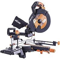 Evolution R255SMS+ Multi-Material Sliding Mitre Saw with Plus Pack, 255 mm (230V)