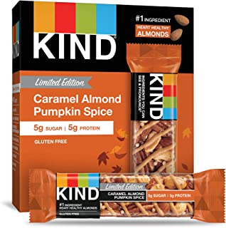 product image for KIND Bars, Caramel Almond Pumpkin Spice, Gluten Free, Low Sugar, Limited Edition, 1.4 Ounce Bars, 60 Count