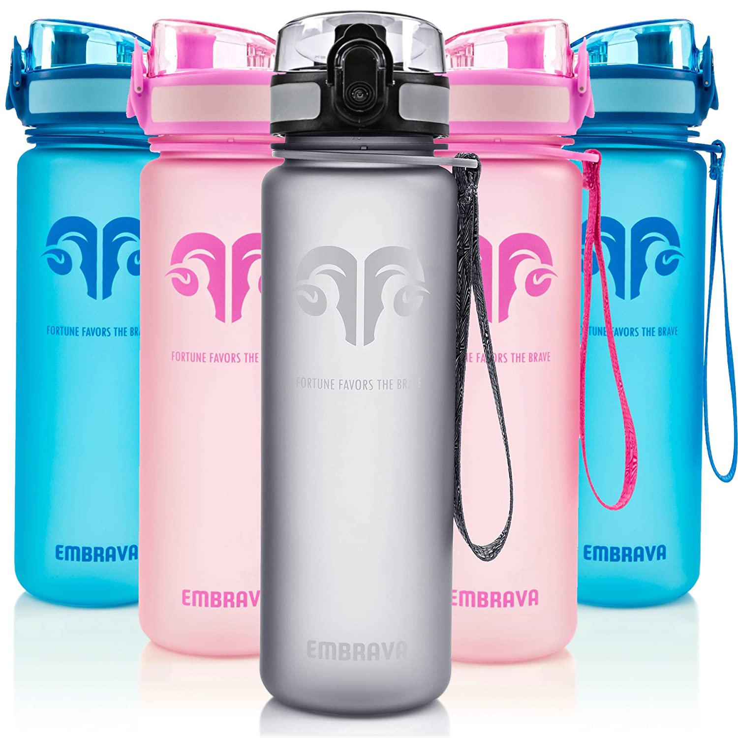 982d0eae67 Best Sports Water Bottle - 18oz Small - Eco Friendly & BPA-Free Plastic -  For Running, Gym, Yoga, Outdoors and Camping -