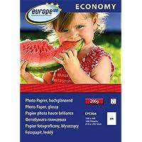 Avery Zweckform EPC004 Paquet de 100 feuilles de papier photo A4 brillant 200 g/m² Europe 100 (Import Allemagne)