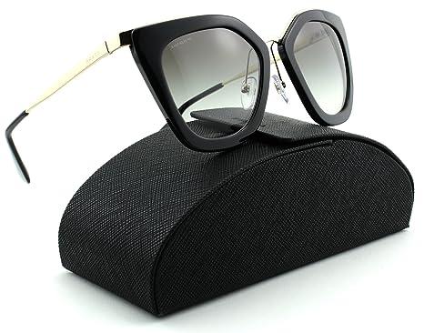 Amazon.com: Prada 0PR 53ss Mujer anteojos de sol Marco Negro ...