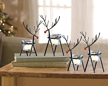 Buy TIED RIBBONS Reindeer Tealight Candle Holders Home Decoration Items for  Living Room Bedroom Dining Room- Tealight Candle Holders for Home Decor  (Pack of 4) Online at Low Prices in India -