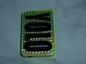 """Brand New&Limited edition Ladies lighter,""""YOLO"""" lime/black with diamond inspired 3D design+Great gift box (EXCLUSIVE)"""