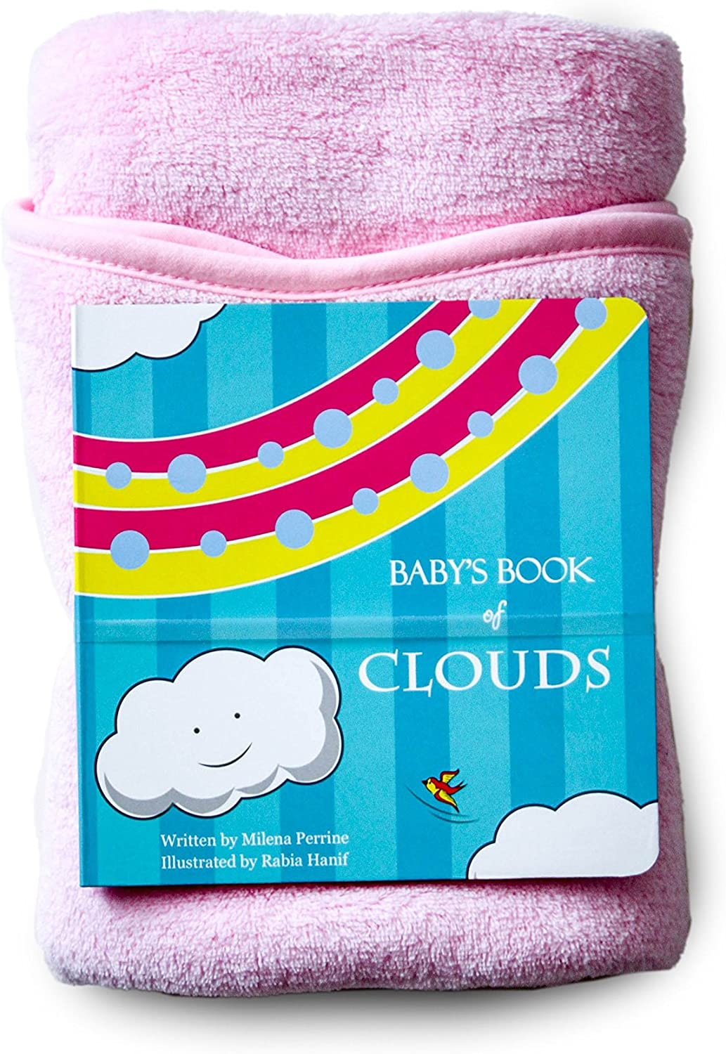 2 Pack Cloud Shaped Baby Blanket Little Dundi Nuages Pink//White Pink