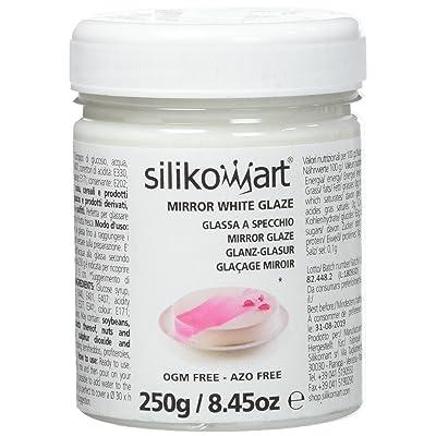 SILIKOMART - MIRROR WHITE GLAZE 250 GR: Automotive [5Bkhe1006688]