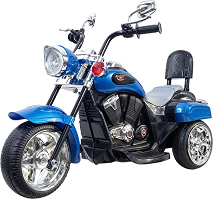 Freddo Chopper Style Electric Ride On Motorcycle for Kids - 6V Battery Powered 3 Wheel Ride On