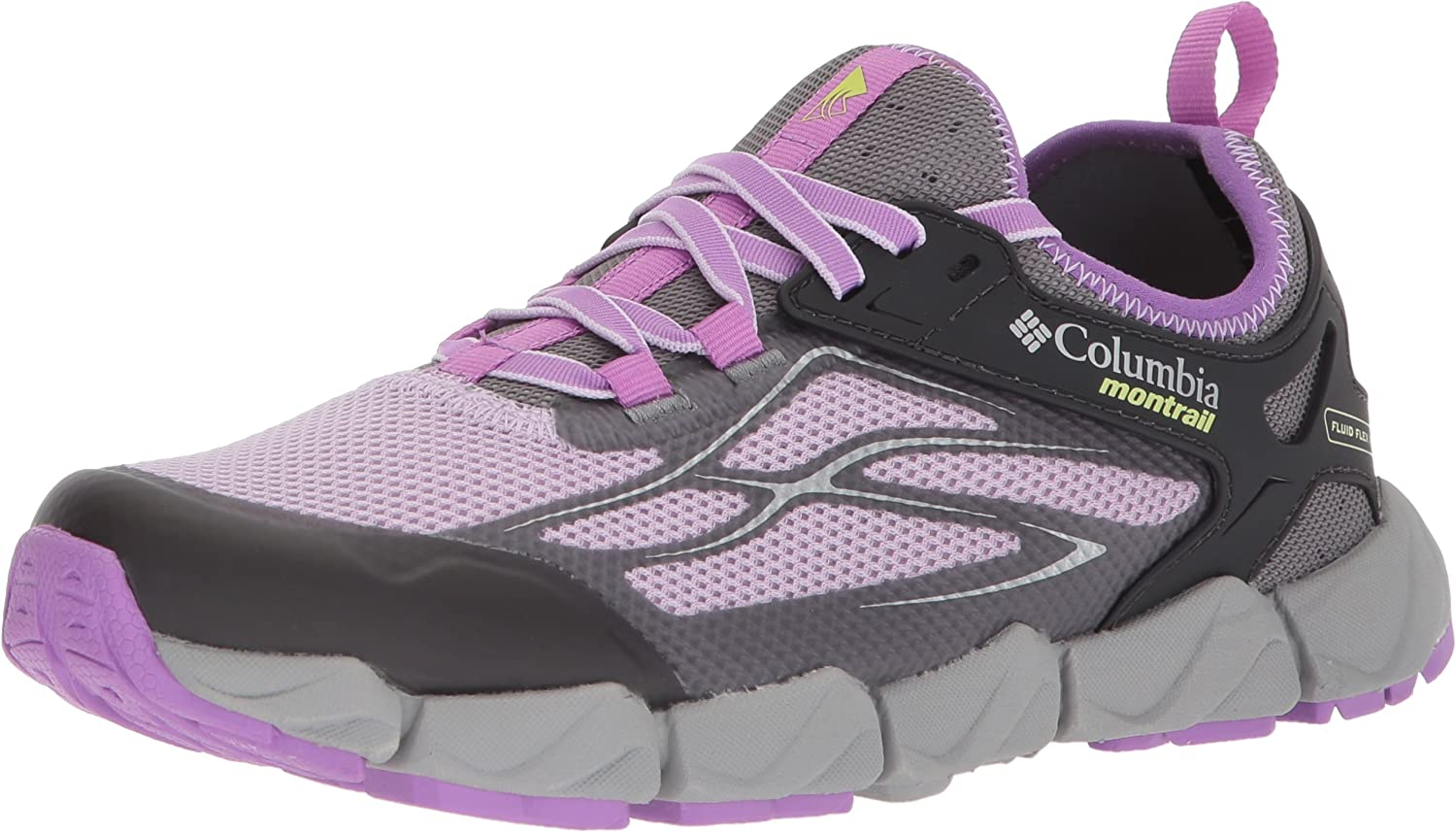 Columbia Women s Fluidflex X.S.R. Trail Running Shoe, Phantom Purple, Nappa Green, 7 B US