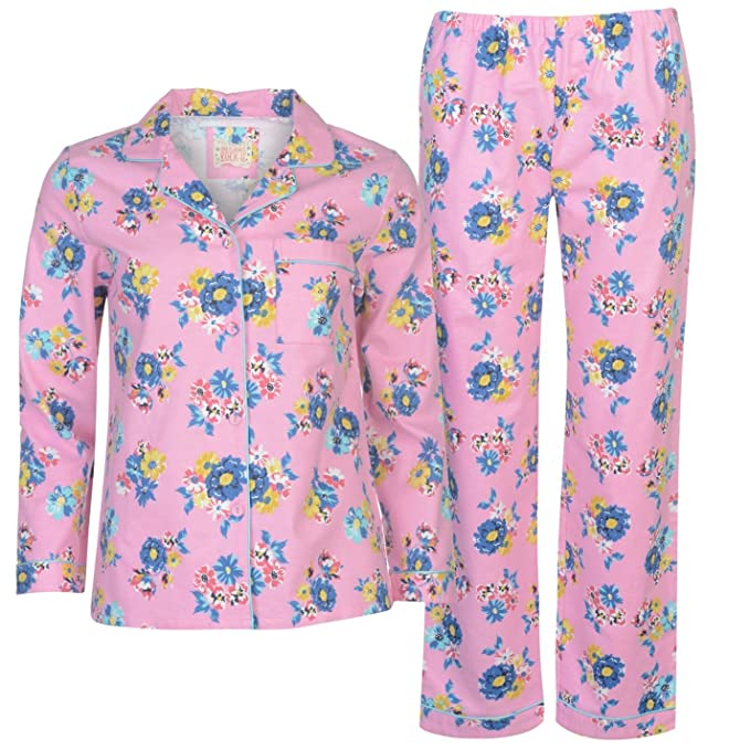 Rock and Rags - Pijama - Floral - Manga Larga - para mujer rosa Small