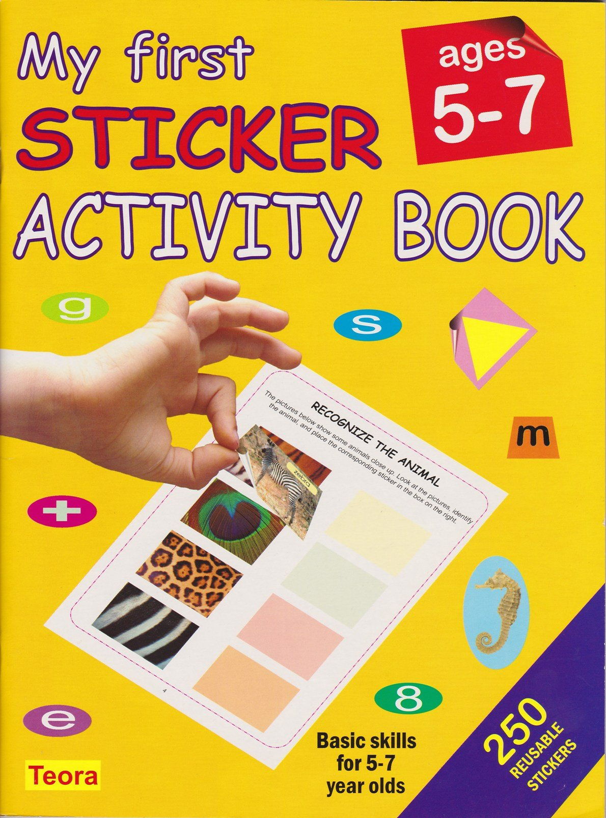 my first sticker activity book ages 5 7 na 9781594961656 amazoncom books