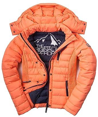 Doudoune Superdry Fuji Slim Hood Acid Coral  Amazon.fr  Vêtements et  accessoires fb3b9727cacd