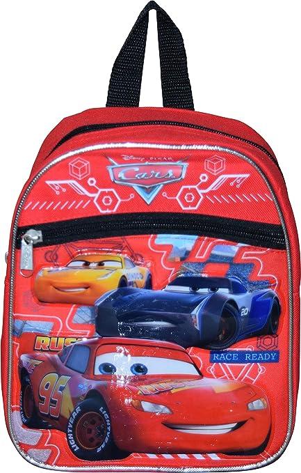 "Cars Mcqueen School Backpack 10/"" Mini Book Bag Top Racers Cars 3"