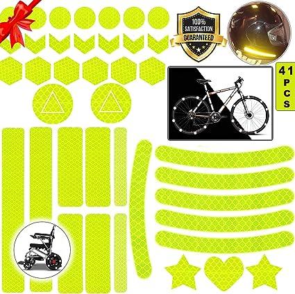 Sunshine smile Pegatinas Reflectantes Casco Moto,Pegatinas Reflectantes Bicicleta,Pegatinas Reflectantes Kit,reflectores Adhesivos,Pegatinas Reflectantes (Amarillo): Amazon.es: Coche y moto