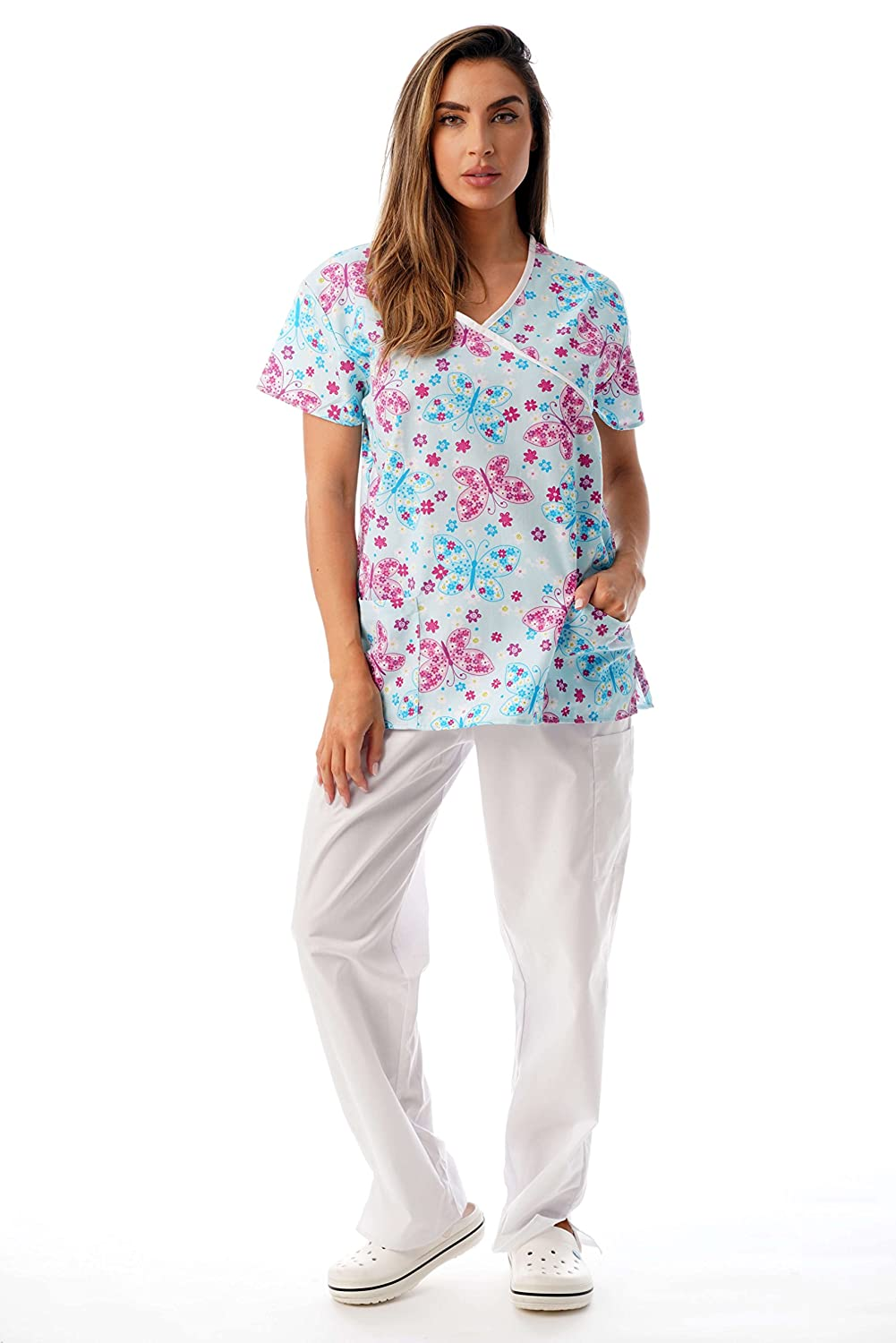 7c0d6fce416 ALL DAY COMFORT: These medical scrubs for women feel soft on the skin, are  comfortably roomy, and are designed with a functional drawstring and  elastic band ...