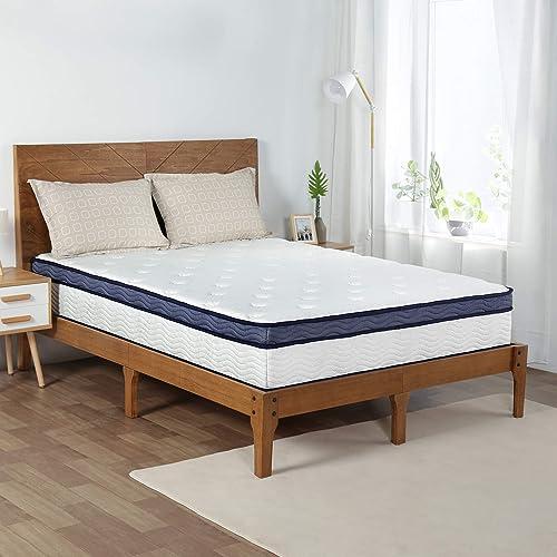 Olee Sleep 12 Inch Midnight Euro Top Gel Memory Foam Spring Hybrid Mattre