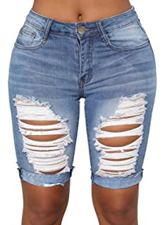Amazon.com: Dokotoo - Pantalones cortos de mezclilla para ...