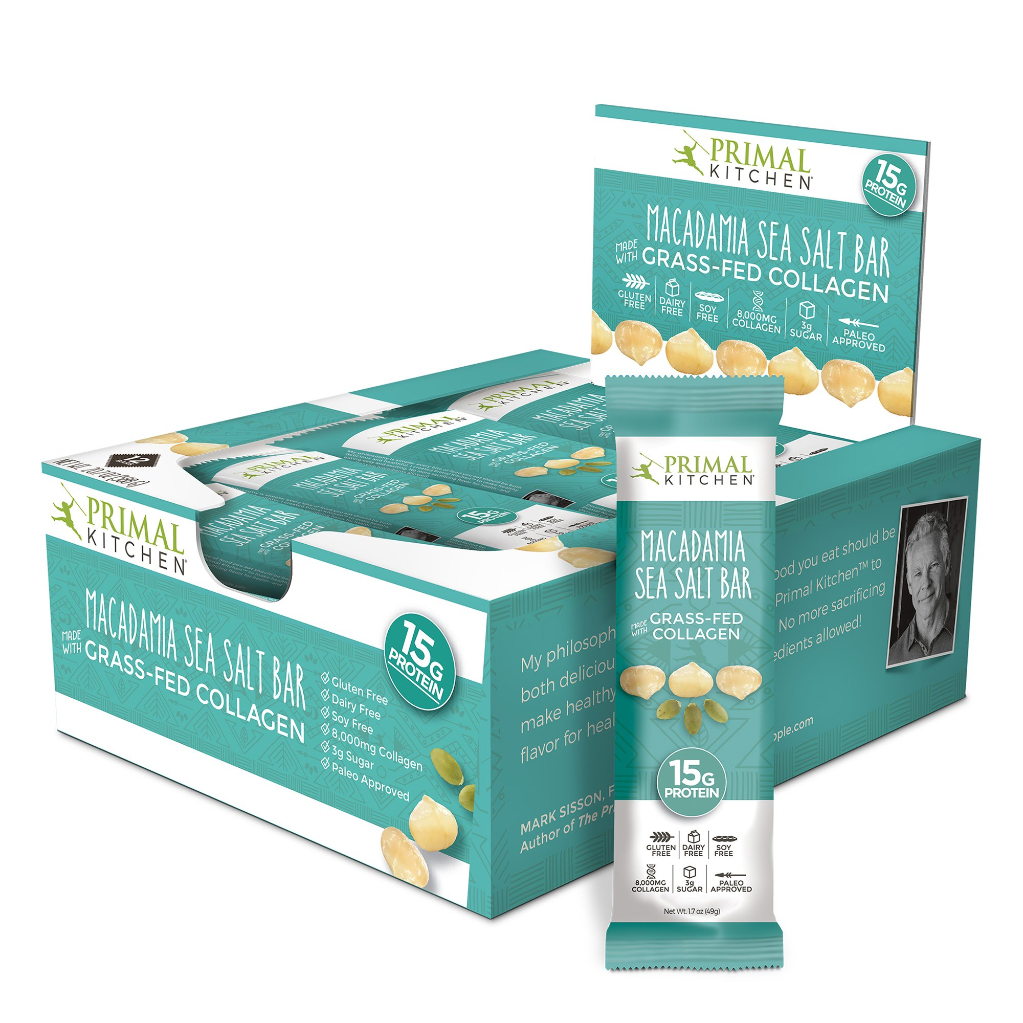 Amazon.com : Primal Kitchen - Coconut Cashew Collagen Protein Bars ...