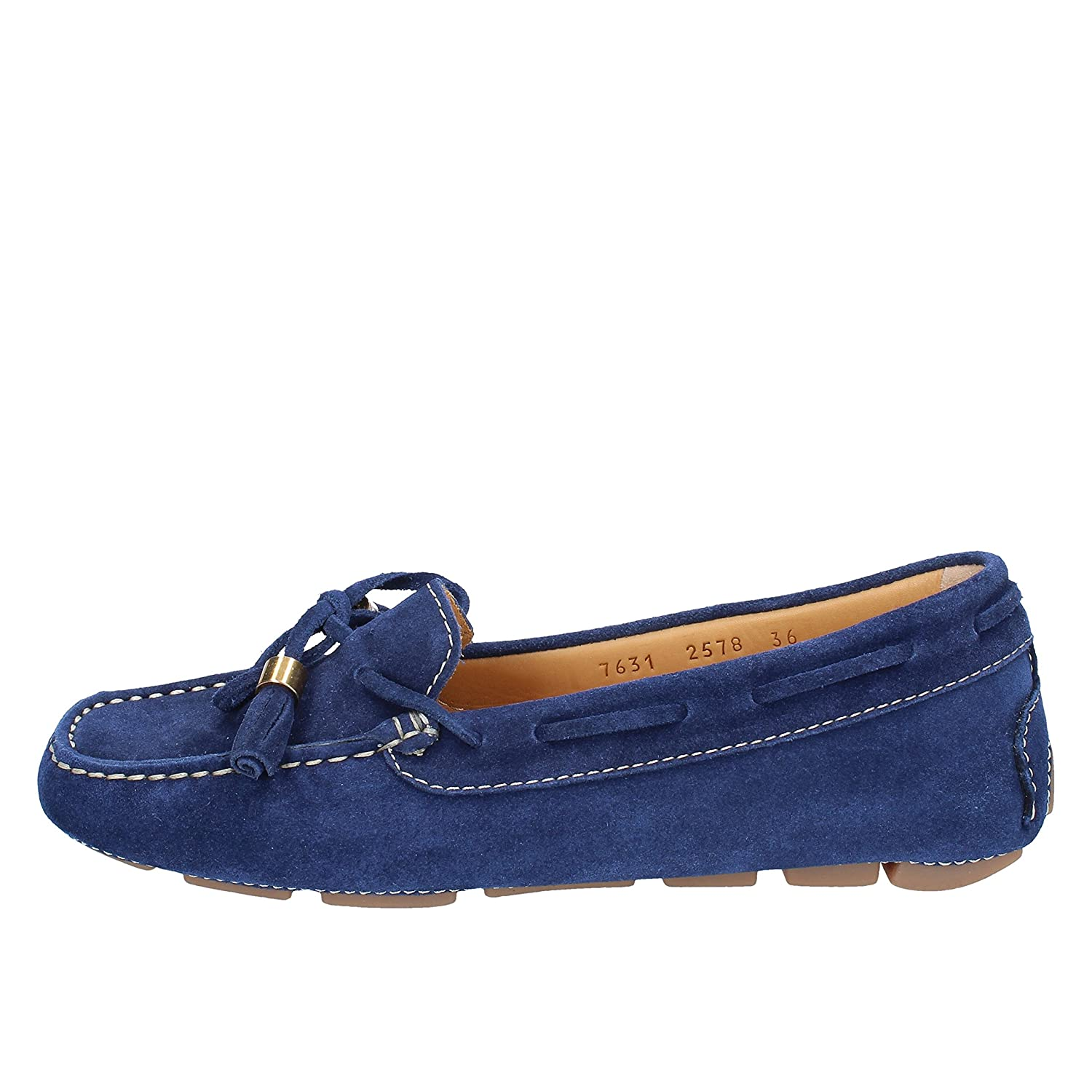 - CALPIERRE Loafers-shoes Womens Suede bluee