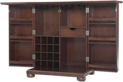 Genial Crosley Furniture Alexandria Expandable Top Bar Cabinet   Vintage Mahogany