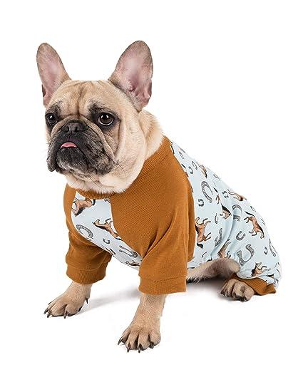 57d1224992 Leveret Matching Dog Pajamas Christmas Pjs 100% Cotton Horse Blue Size X- Large