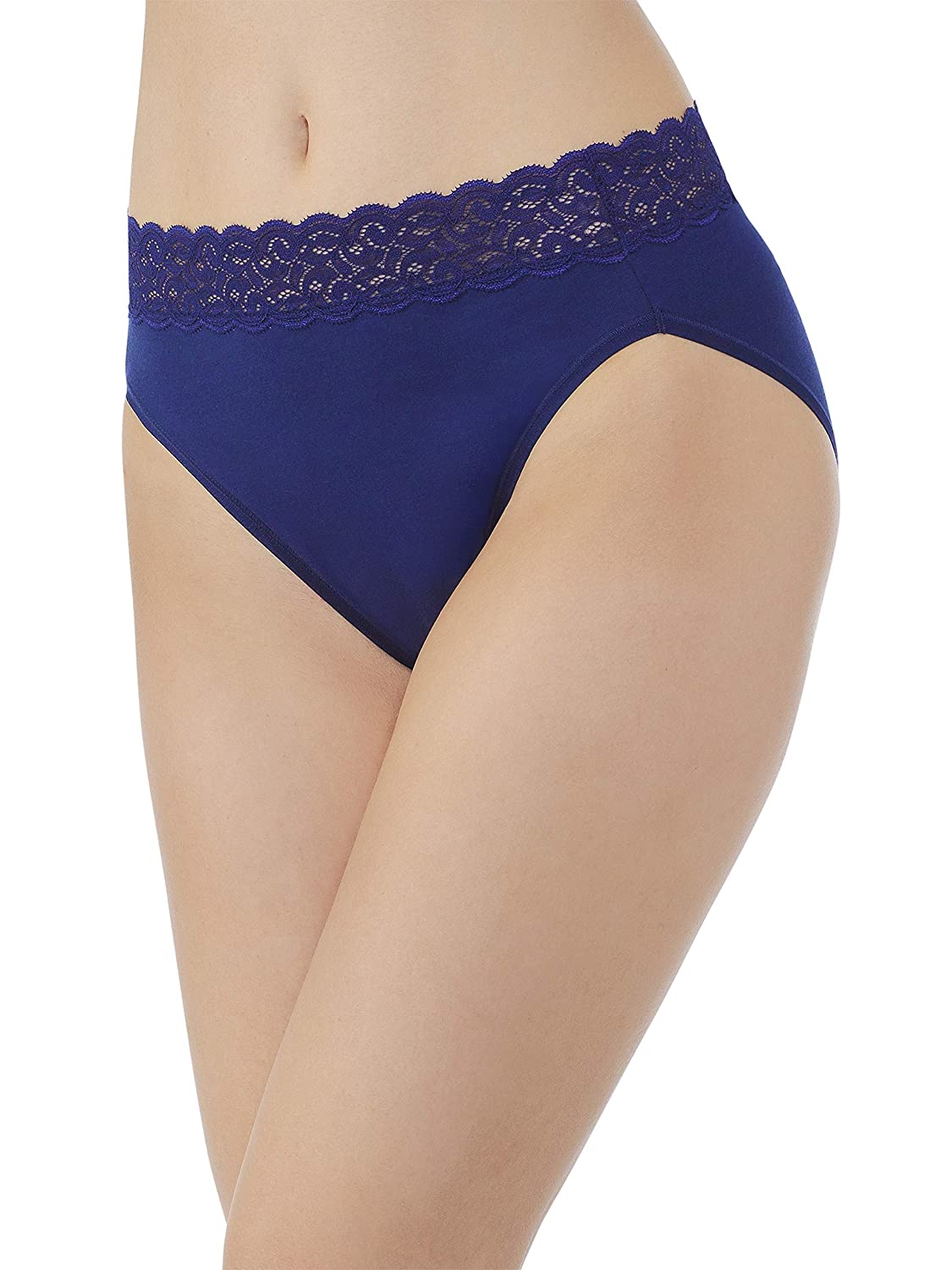Vanity Fair Womens Standard Flattering Lace Cotton Stretch Hi Cut Panty 13395