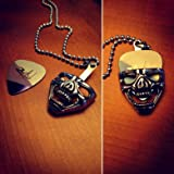 Skull Head Guitar Pick Holder/Necklace Pendant (pick sold separately)
