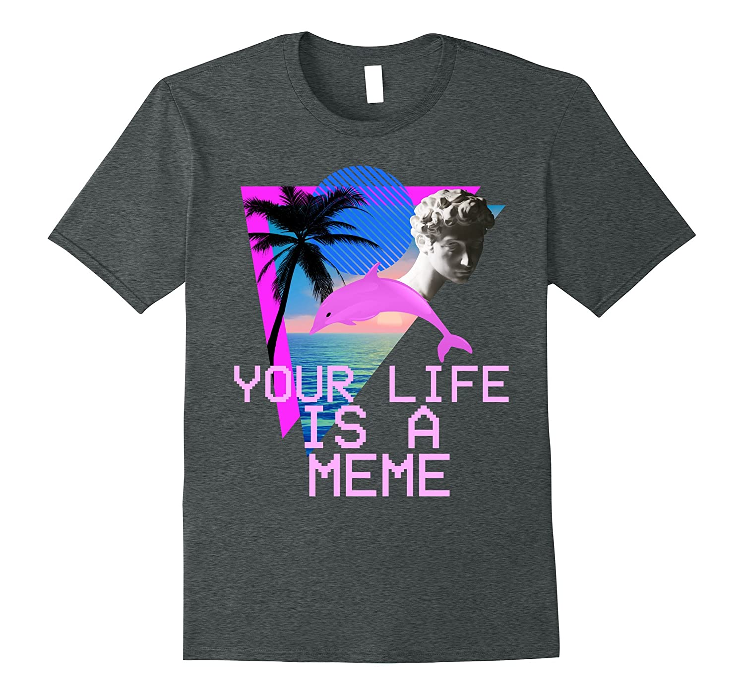 Vaporwave Aesthetic Your Life Is A Meme Tee-Vaci