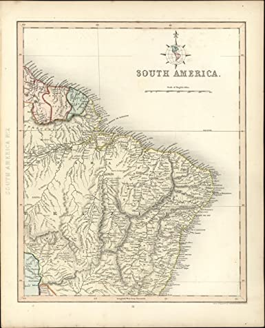 Amazon.com: Brazil Amazon Dutch French Guyana South America 1848 ...