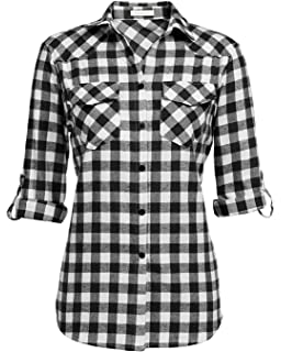 Christmas Girls Casual Button Down Short Sleeve Shirt,XS-2XL,Red Classical Pick