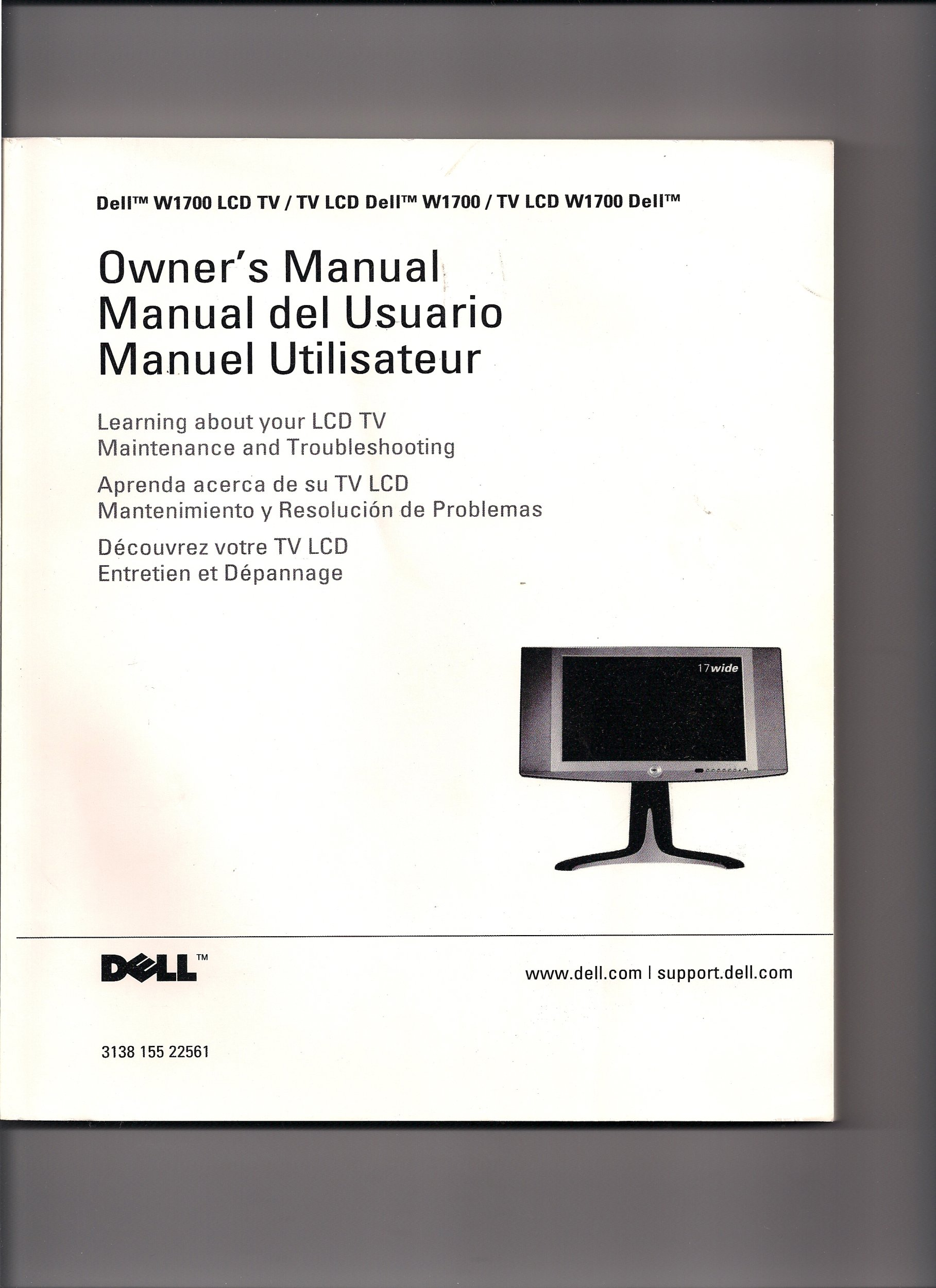 Cool Dell W1700 Lcd Tv Owners Manual Various Amazon Com Books Home Interior And Landscaping Mentranervesignezvosmurscom